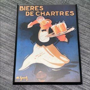 """Target   Vintage Decoupage """"Bieres De Chartres"""""""